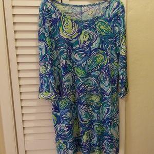 "Lilly Pulitzer Linden Knit Dress, ""Oh shucks"" XL"